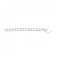 Beadalon Extension Chain 5cm Heart argenté