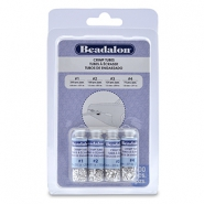 Beadalon Crimp Tube Variety Pack (0.8mm, 1.3mm, 1.5mm, 1.8mm) argenté