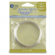 14 Gauge Artistic Wire argenté anti-ternissement