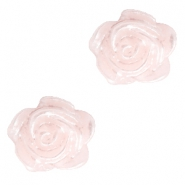 Perles roses 6mm pink harmony-plaqué argent