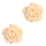 Perles roses 6mm blanc-orange abricot blush