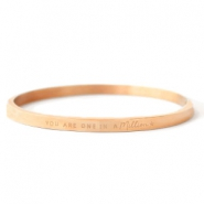 "Bracelets en acier inox ""YOU ARE ONE IN A MILLION"" doré rosé"