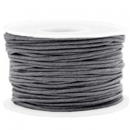 Fil en coton ciré wax 1.5mm Gris chaud