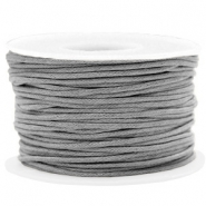 Fil en coton ciré wax 1.5mm Gris chrome