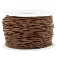 Fil en coton ciré wax 1mm Marron chocolat