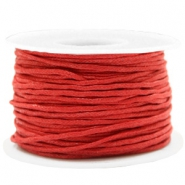 Fil en coton ciré wax 1.5mm Rouge chaud