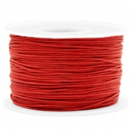 Fil en coton ciré wax 1mm Rouge chaud
