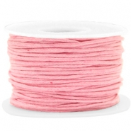 Fil en coton ciré wax 1.5mm Rose