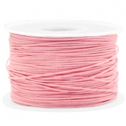 Fil en coton ciré wax 1mm Rose