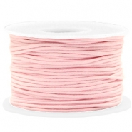 Fil en coton ciré wax 1.5mm Rose clair