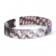 Bracelets tendance en résine loose fit serpent mat Bleu-marron