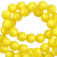 Perles Super Polaris rond 10 mm mat Jaune empire
