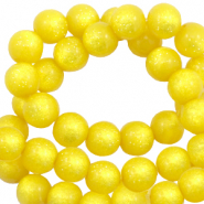 Perles Super Polaris rond 8 mm shiny Jaune empire