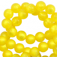 Perles Polaris rond 8 mm pearl shine Jaune empire