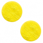Cabochon plat 20mm Polaris Elements Lively Jaune empire