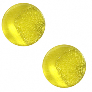 Cabochon plat 12mm Polaris Elements Stardust Jaune empire