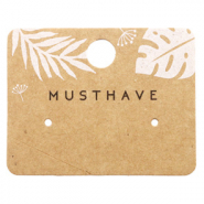 Cartes à bijoux 'musthave' Leaves Marron