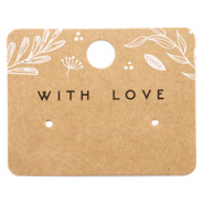 Cartes à bijoux 'with love' Floral Marron
