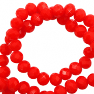 Perles à facettes 3x2mm disque Rouge flamme-Pearl Shine Coating