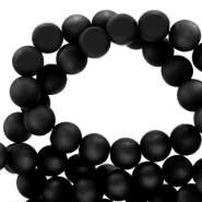 Perles Super Polaris rond 6mm mat Noir jais