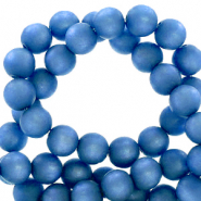 Perles Super Polaris rond 8mm mat Bleu princesse