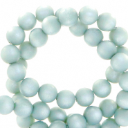 Perles Super Polaris rond 8mm mat Bleu denim délavé