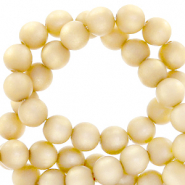 Perles Super Polaris rond 8mm mat Jaune vanille