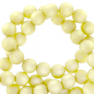 Perles Super Polaris rond 8mm mat Jaune limelight