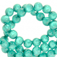 Perles Polaris rond 6mm Mosso shiny Vert Biscaye