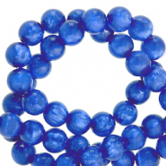 Perles Polaris rond 6mm Mosso shiny Bleu princesse