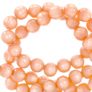 Perles Polaris rond 6mm Mosso shiny Orange pêche