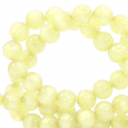 Perles Polaris rond 6mm Mosso shiny Jaune limelight