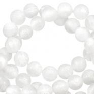 Perles Polaris rond 8mm Mosso shiny Blanc brillant