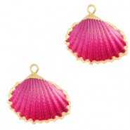 Perles coquillage specials Coque Doré-Rose ombre