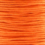 Cordon en coton ciré 1.0mm orange