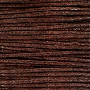 Cordon en coton ciré 1.0mm marron chocolat