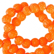 Perles scintillantes 6mm orange vif