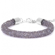 Bracelets Crystal Diamond 8mm violet velvet