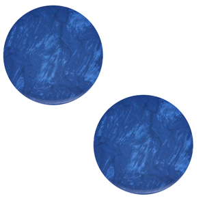 Cabochon plat 20mm Polaris Elements Lively Bleu iolite